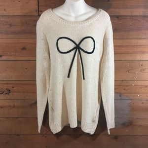 Lauren Conrad Gold Sweater With Bow XL